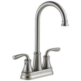 Delta lorain Stainless 2 Handle Bar and Prep Faucet