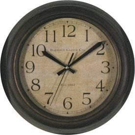 small chip  scratch see Photos allen   roth 12 in 12 In Boston Oil Rubbed Bronze Clock