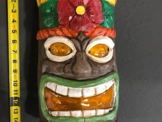 Small Crack on Top See Photos SOlAR lED STATUE Tiki