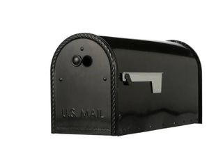 Edwards Post Mount Mailbox Black