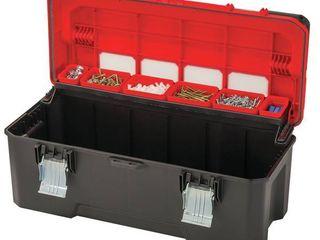 26in Red Plastic lockable Tool Box