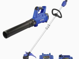 Kobalt 24v Max Brushless Cordless Blower   String Trimmer Combo Kit