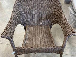 Brown Outdoor Wicker Chair