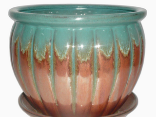 large 10 5in Copper Teal Planter