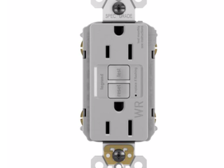legrand radiant Gray 15 Amp Tamper  Weather Resistant GFCI Outlet RETAIl  24 65