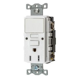 Hubbell 15 Amp 125 Volt White GFCI Electrical Outlet RETAIl  15 78