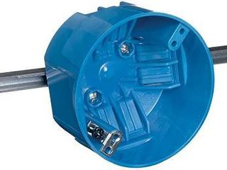 Thomas And Betts lamson 4in  Round Ceiling Box With Adjustable Bar B620HR UPC RETAIl  9 60