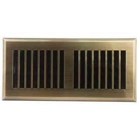 Accord APFRABl410 Plastic Floor Register with louvered Design  4 Inch x 10 Inch Duct Opening Measurements  Antique Brass F inish RETAIl  15 98