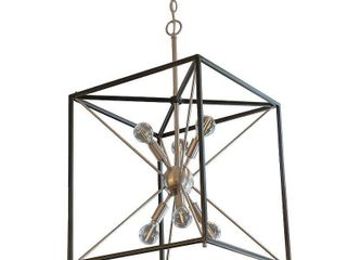Sadler 6 light Industrial Square Frame Sputnik Pendant