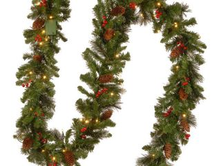 Pre lit Spruce Garland w  lED lights