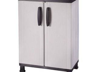 HDX Plastic 2 Shelf Multi Purpose Base Wall Cabinet