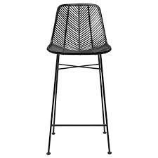 Rattan Bar Stool w  Metal Frame