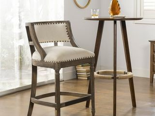 The Gray Barn Bon Accord Farmhouse Bar Stool with Backrest Retail 358 99