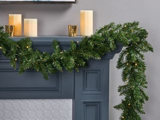 Norway Spruce Pre lit Warm White lED Artificial Christmas Garland by Christopher Knight Home