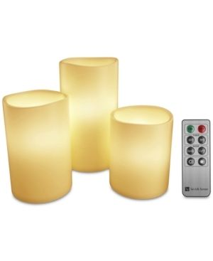 lavish Home 3 Piece lED Flameless Candle Set w  Remote