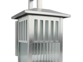 Y Decor 1 light Outdoor Wall lamp w  Clear Ribbed Glass