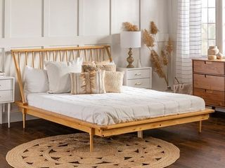Carson Carrington Blaney Solid Pine Wood Spindle Bed   Queen Retail 392 99