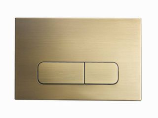 Wall Mount Dual Flush Actuator Plate with Rectangle Push Buttons