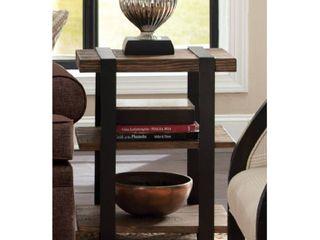 Carbon loft Kenyon Reclaimed Wood with Metal Straps 3 shelf End Table Retail 212 99