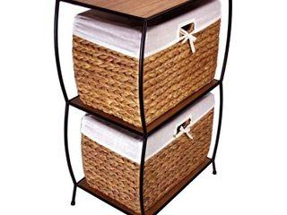 Rattan 2 drawer File Cabinet Retail 136 97