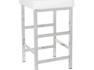 Porch  amp  Den Mulloy Chrome 30in Backless Stool