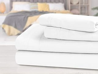 Superior Egyptian Cotton 650 Thread Count Deep Pocket Solid Bed Sheet Set   King