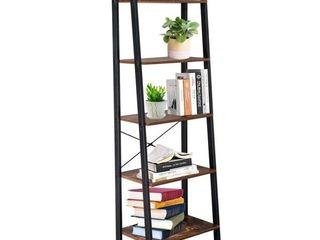 5 Tiers Industrial ladder Shelf Vintage Bookshelf