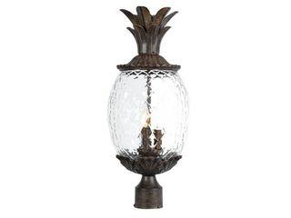 Acclaim lighting lanai Collection Post Mount 3 light Outdoor Black Coral light Fixture