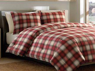 Eddie Bauer Navigation 3 piece Plaid Cotton Comforter Set   Queen Full