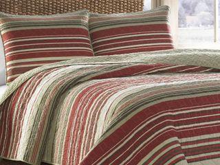 Eddie Bauer Yakima Valley Red 3 piece Quilt Set   King Retail 128 97