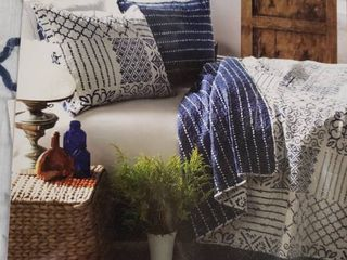 The Curated Nomad Sandia Cotton Quilt Set   Full Queen