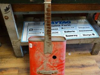 Homemade gas can guitar