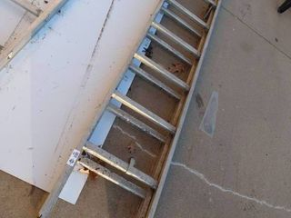 2 pc aluminum extension ladder