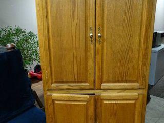 Wood 2 pc ET   wardrobe cabinet