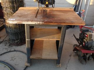 Craftsman radial arm saw w  cabinet stand