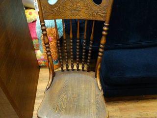 Vintage wood dining chair