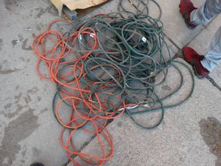 lot of various extension cords