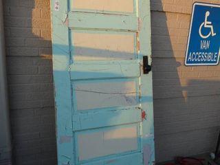 OlD wooden interior solid door