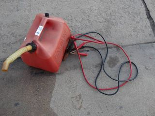 Gas can   jumper cables