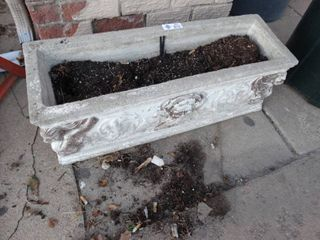 Nice cement flower planter