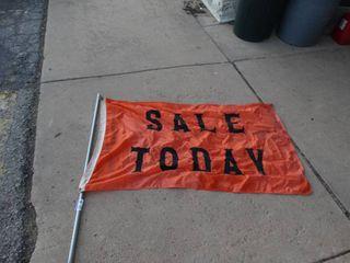 SAlE TODAY flag w  pole