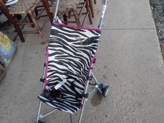 Folding childs stroller