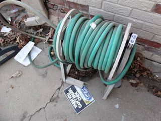 Garden hose w  reel