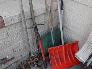 lot of long handle tools