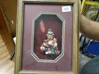 Native American  Story Teller  framed Art  Signed by Artist laverne Elliot