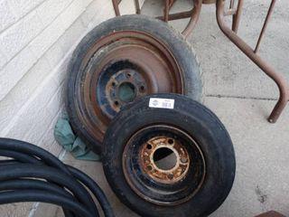 2 tires   rims