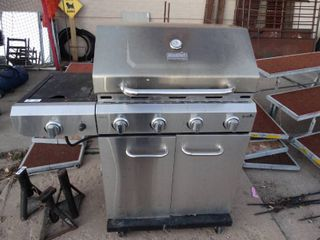 Charbroil stainless steel propane rill w  side burner