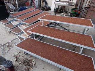 8 sections choir risers  music stands  portable risers