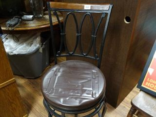 Padded wood bar stool