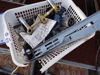 Basket w  various hardware   plumbing